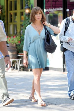Jennifer Aniston, hair, bob, 'Squirrels to the Nuts' on set filming, New York, America - 17 Jul 2013