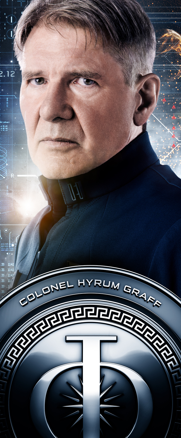 Ender's Game Characters Banners: Colonel Hyrum Graff