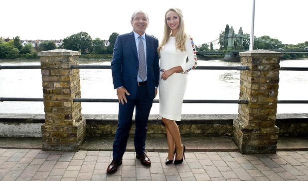 Lord Sugar with The Apprentice winner Leah Totton