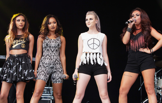 Little Mix perform at Ponty's Big Weekend.