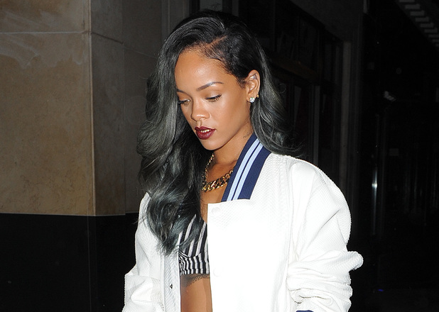 Rihanna enjoys a night out at Cirque Le Soir with friends including Cara Delevingne and Melissa Forde.