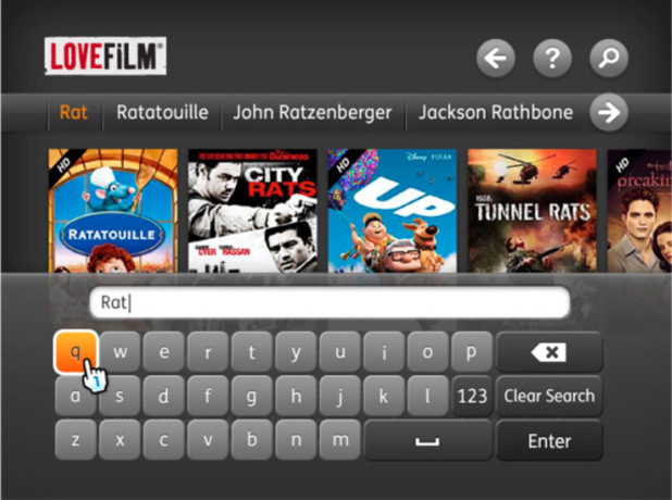 LoveFilm on the Nintendo Wii U