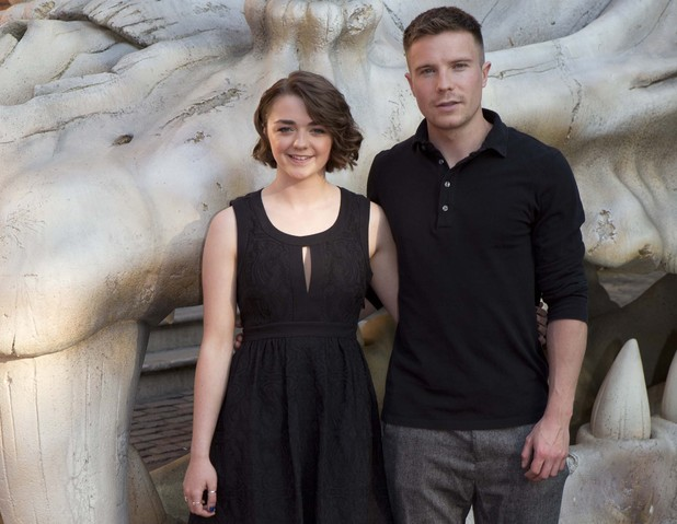 Maisie Williams & Joe Dempsie at the Blinkbox Game of Thrones fan screening