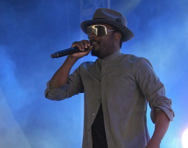 will.i.am performing at the 2013 Wireless Festival, July 14