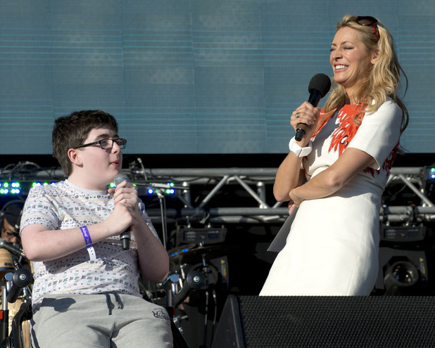 Jack Carroll and Tess Daly