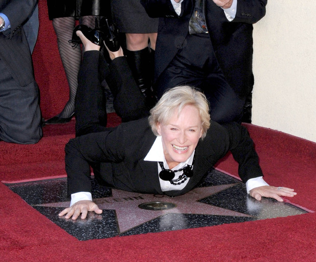 Glenn Close, Star Hollywood walk of fame, funny pose