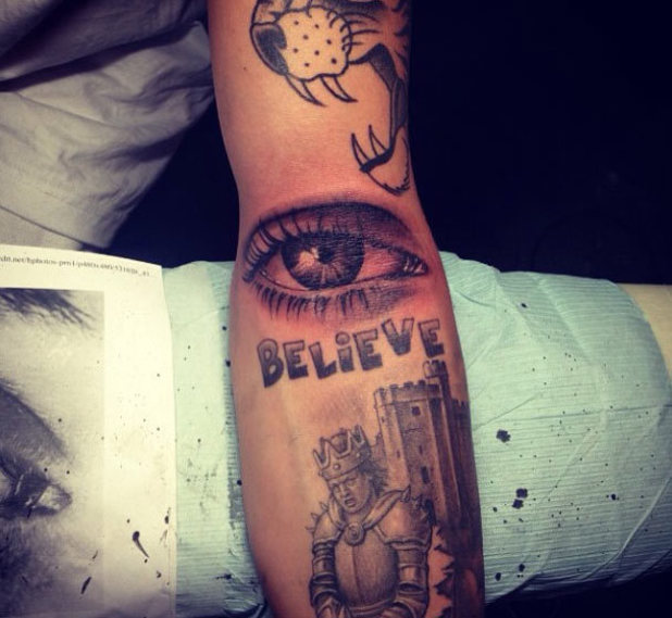 Justin Bieber's latest tattoo