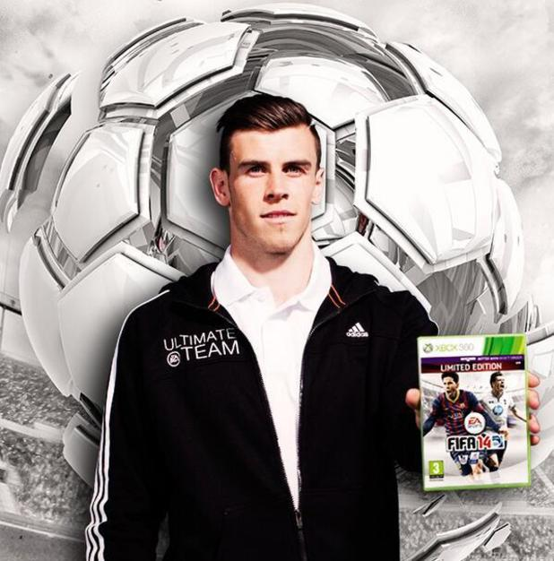 Gareth Bale on the FIFA 14 UK cover