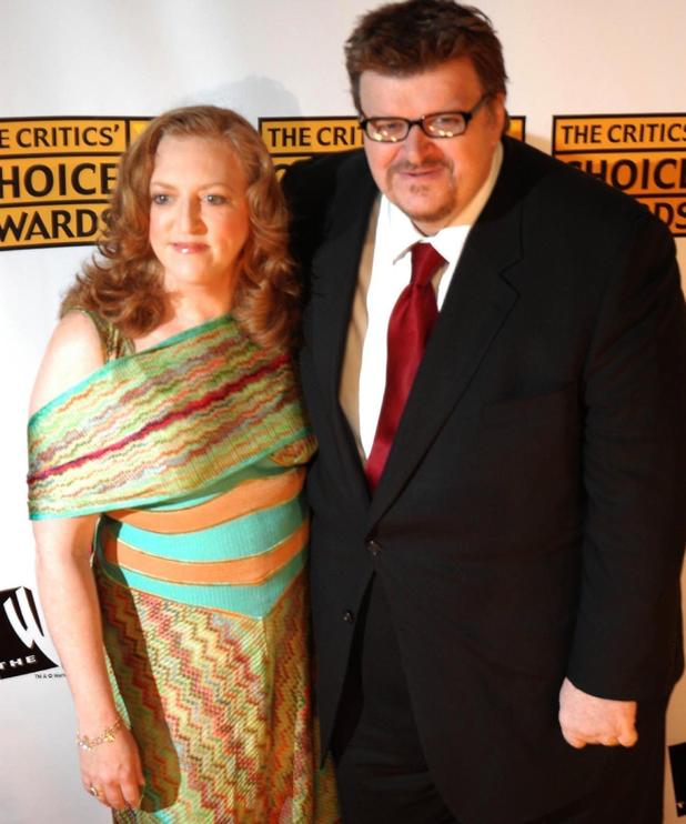 Michael Moore and wife Kathleen Glynn