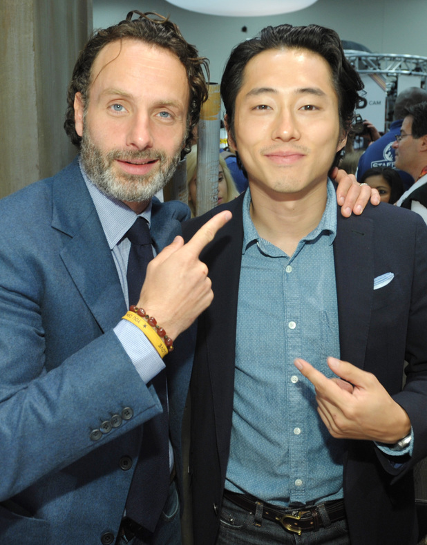 Andrew Lincoln and Steven Yeun