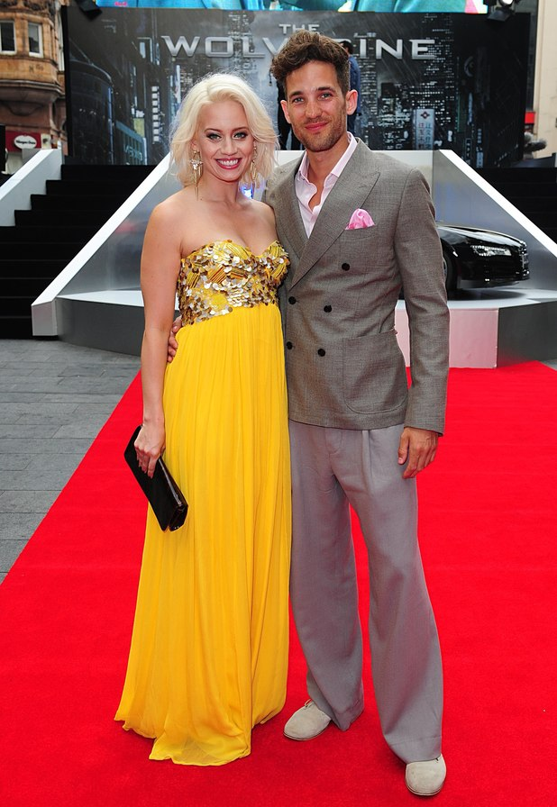 Kimberly Wyatt and Max Rogers arriving for the UK Premiere of The Wolverine, at the Empire Leicester Square, London.
