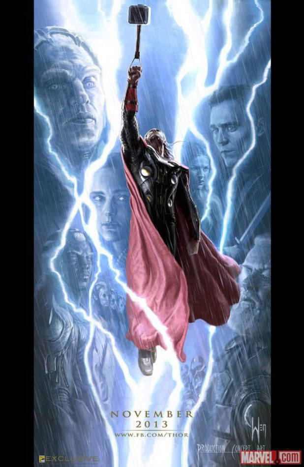 Thor: The Dark World Comic-Con poster