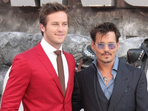 Armie Hammer, Johnny Depp, Silver, The Lone Ranger UK premiere