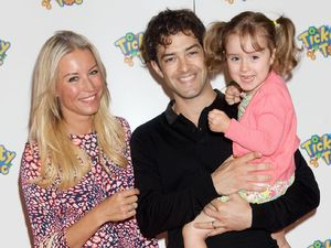 Denise Van Outen, Lee Mead and daughter Betsy Mead - Tickety Toc's Tommy and Tallulah mingle with the stars at Hamleys star-studded event to celebrate Tickey Toc toy launch. Kids TV favourite, Tickety Toc was a hit with kids in Hamleys when Zodiak Kid unveiled the new Tickety Toc toy line