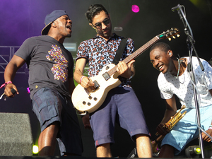 Rudimental performs on day 1 of Lovebox Festival 2013 held at Victoria Park