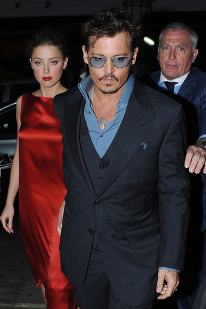 Amber Heard, Johnny Depp, Lone Ranger UK premiere