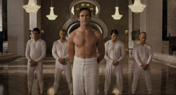 Armie Hammer, Mirror Mirror shirtless