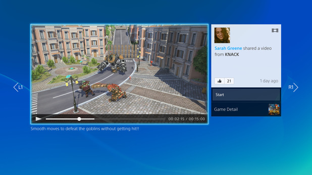 A screenshot of the PlayStation 4 interface