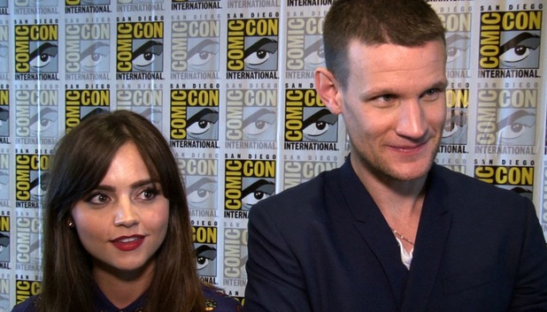 Doctor Who's Matt Smith and Jenna Coleman at Comic Con 2013