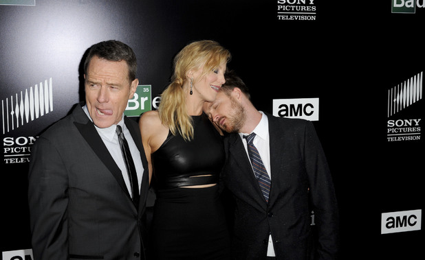 Aaron Paul, Bryan Cranston, Anna Gunn, Celebrities at AMC 'Breaking Bad' special premiere at SONY Lot