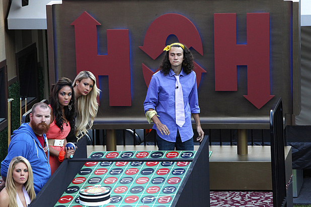 Big Brother USA houseguests compete in the HOH competition