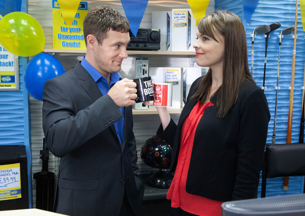 Tracy is keen to let Rob know she's his equal not his employee.