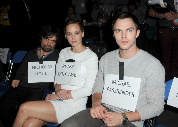 Peter Dinklage, Jennifer Lawrence, and Nicholas Hoult
