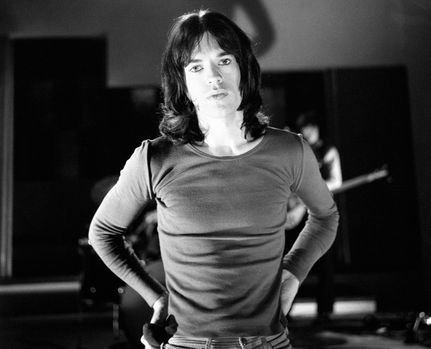 Mick Jagger of the Rolling Stones whilst rehearsing at Wembley studios in preparation for their appearance on David Frost's 'Frost on Saturday' TV programme