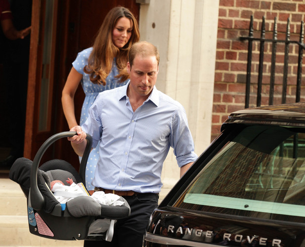 Duke and Duchess of Cambridge leave St Mary's Hospital