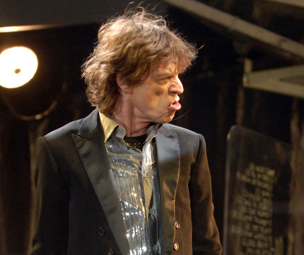 Mick Jagger of The Rolling Stones in concert at Twickenham Stadium, London, as part of their A Bigger Bang World tour