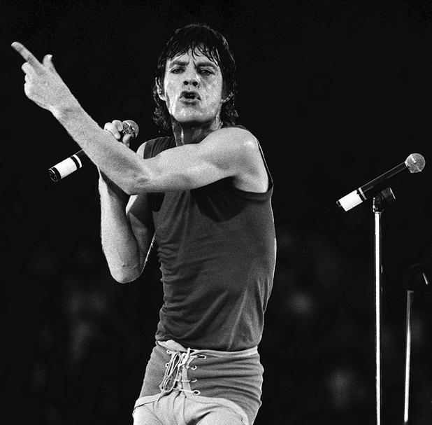 Mick Jagger of the Rolling Stones in good voice at Wembley Stadium when the legendary British rock group played the first of two concerts at the venue.