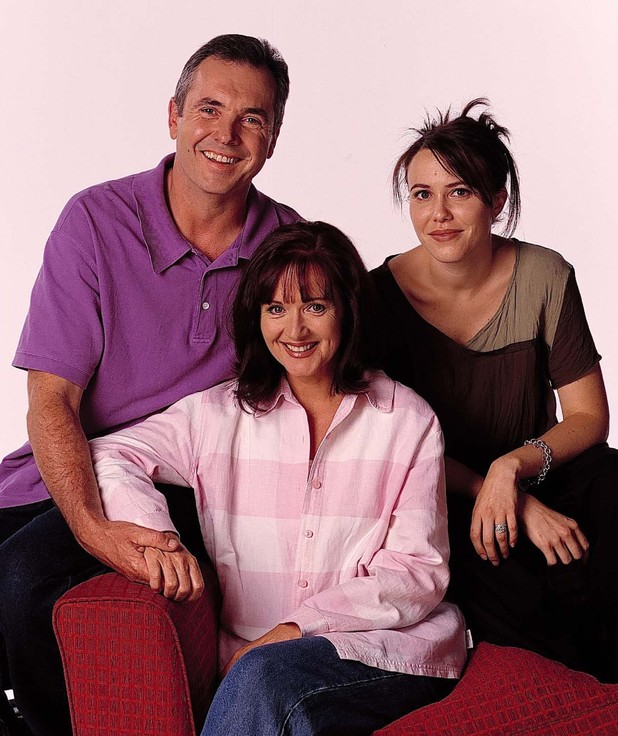 'Neighbours' Jackie Woodburne and Kym Valentine,  Alan Fletcher, Jackie Woodburne and Kym Valentine