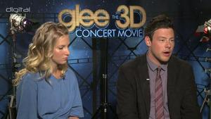 Cory Monteith, Heather Morris - 'Glee: The 3D Concert Movie' interview