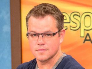 Matt Damon, 'Despierta America' TV programme, Miami, Florida