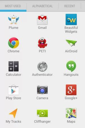 Quad Drawer on Android