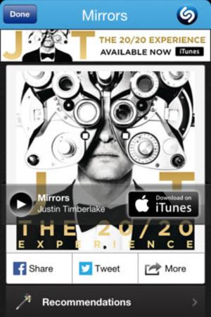Shazam on iOS