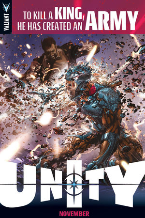 Artwork from Valiant Comics' Unity crossover