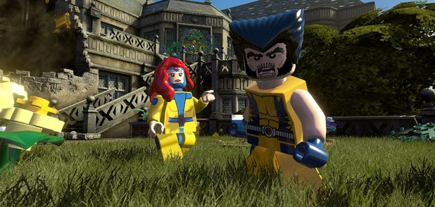 Wolverine and Jean Grey in 'LEGO Marvel Super Heroes'