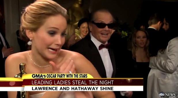 Jennifer Lawrence, Jack Nicholson, Oscars 2013