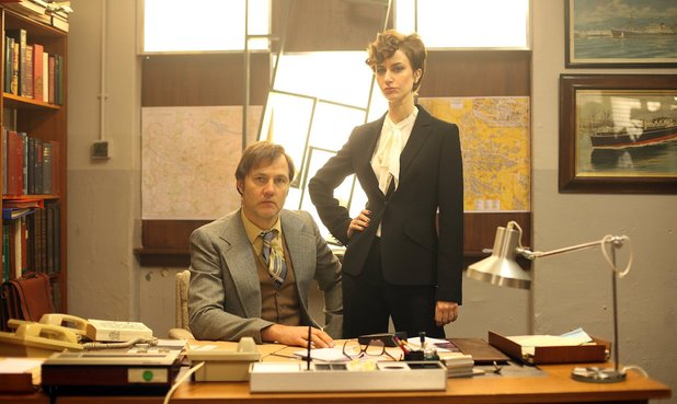 David Morrissey as Murray Devlin and Katherine Kelly as Maloney  in 'Field of Blood: The Dead Hour'