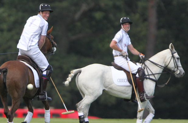 Prince William and Prince Harry at the Audi Polo Challenge