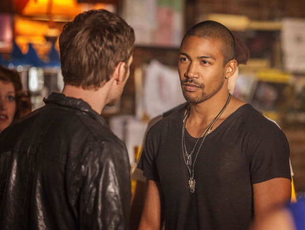Joseph Morgan as Klaus and Charles Michael Davis as Marcel