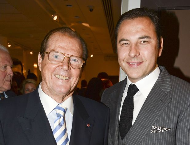 David Walliams, Roger Moore, 50 Years of James Bond: The Auction, Christie's, London, Britain - 05 Oct 2012