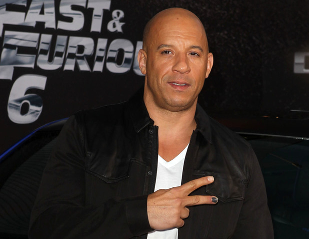 Vin Diesel, Fast & The Furious 6 Los Angeles Premiere Caption: 	Los Angeles premiere of 'Fast & The Furious 6' at Gibson Amphitheatre - Arrivals