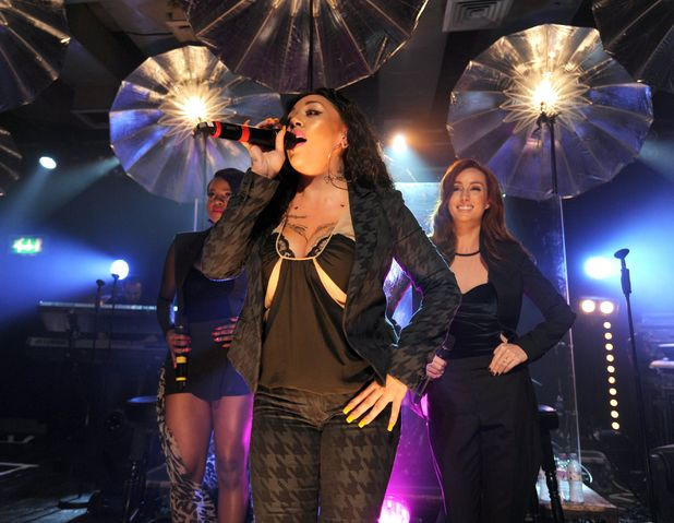 Mutya Keisha Siobhan during their first comeback performance at Scala, London