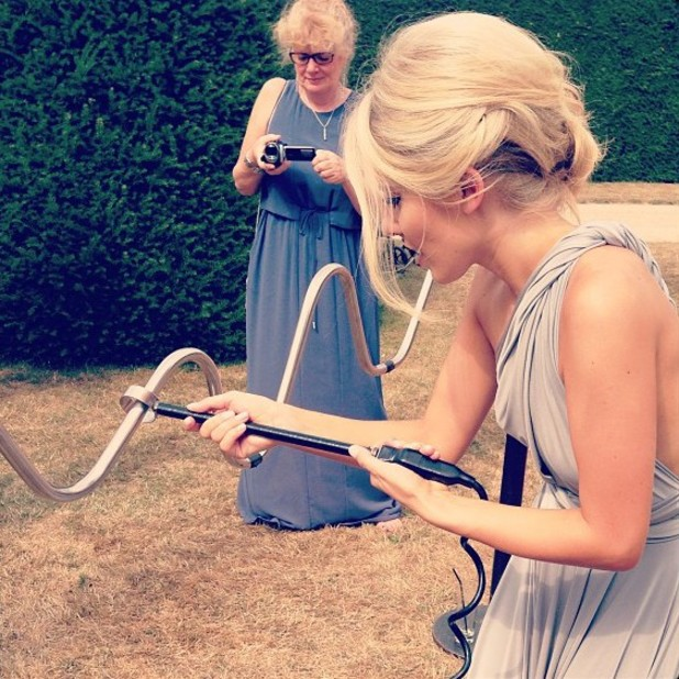 The Saturdays star Mollie King is bridesmaid at sister's wedding