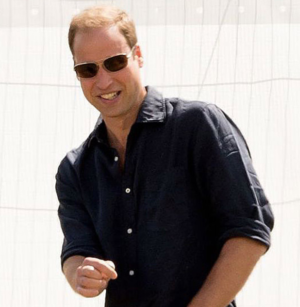 Prince William at the Audi Polo Challenge