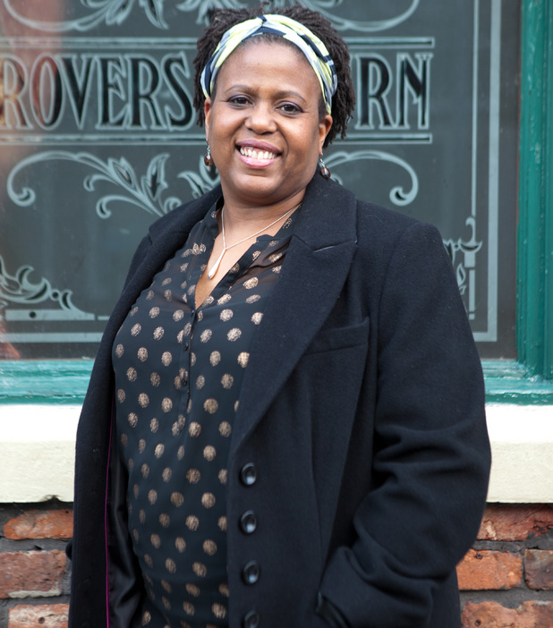 Pamela Nomvete as Mandy Kamara in Coronation Street