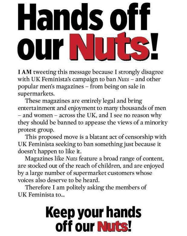 Nuts magazine campaign