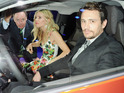 Hollywood pair cuddle and joke as they launch the BMW i3 electric car at a star-studded bash.